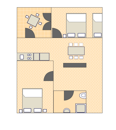 Ground-plan of the apartment - A3 - 4+1